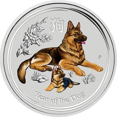 colorized silver bullion dog australia