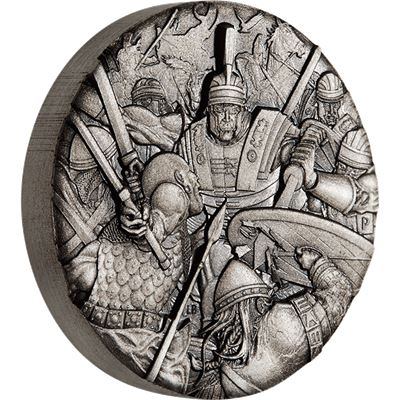 roman legion high relief silver