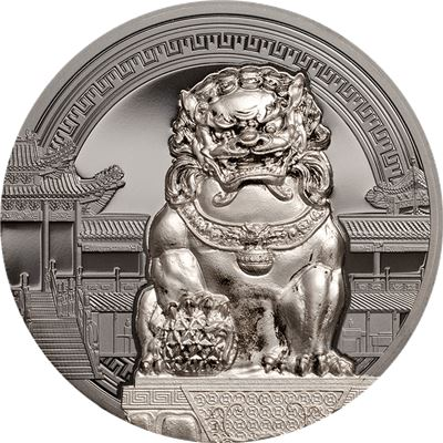 chinese guardian lions coin silver