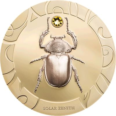 cook islands coin silver scarab