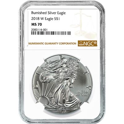 burnished silver eagle ngc ms70