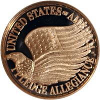 pledge allegiance copper round avdp