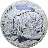 south korea silver tiger with