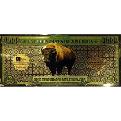 gram gold aurum buffalo note