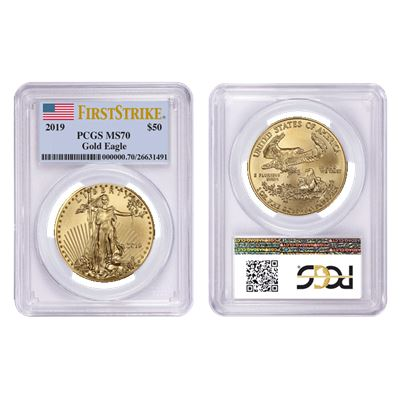 $50 american gold eagle pcgs