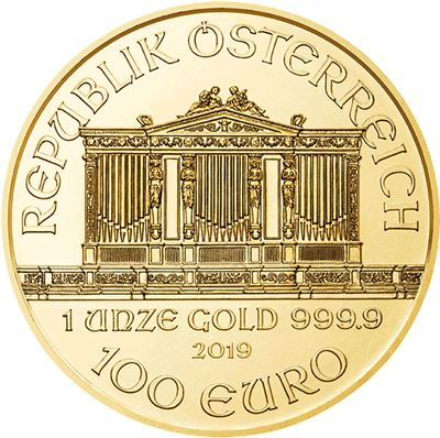austrian gold philharmonic brilliant uncirculated