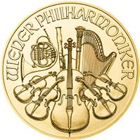 austrian gold philharmonic coin brilliant