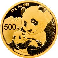 chinese gold panda grams sealed