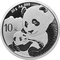 gram chinese silver panda coin