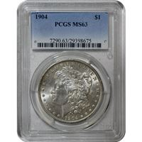 morgan silver dollar pcgs ms63