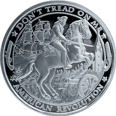 patriot proof like silver round