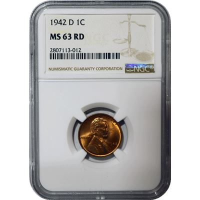 lincoln wheat cent ngc ms63