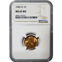 lincoln wheat cent ngc ms65