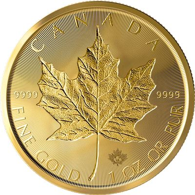 canadian incuse gold maple leaf