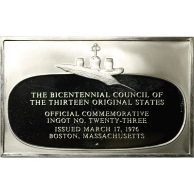 the bicentennial council ingot issued