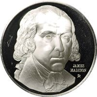 james madison proof sterling silver