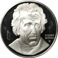 andrew jackson proof sterling silver