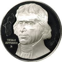 thomas jefferson proof sterling silver