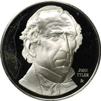 john tyler proof sterling silver