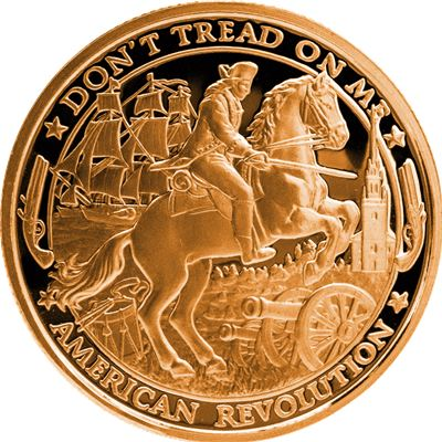 patriot copper round american revolution