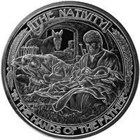nativity silver round pure