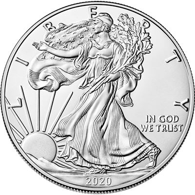 2020 American Silver Eagle 1 Oz Coin