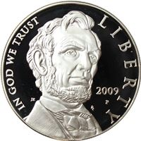 abraham lincoln proof silver dollar
