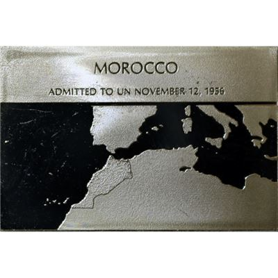 morocco proof sterling silver bar