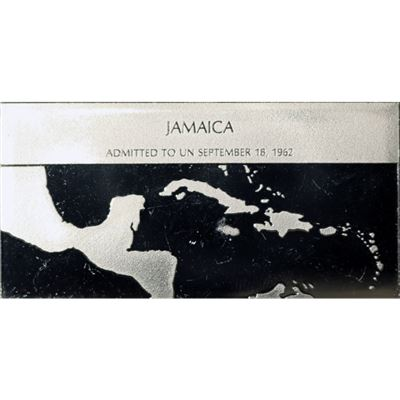 jamaica proof sterling silver bar
