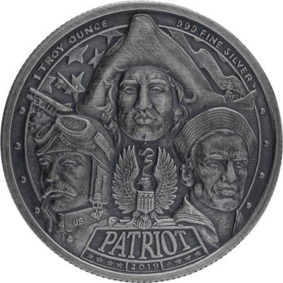 patriot world war silver round