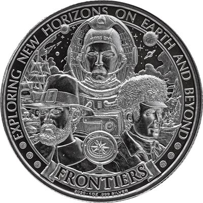 frontiers silver round pilgrims
