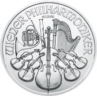 austrian silver philharmonic brilliant uncirculated
