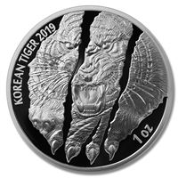 south korea proof silver tiger