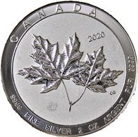 canadian silver maple leaf twin