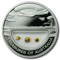 treasures australia gold nuggets locket