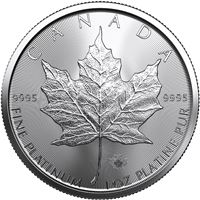 canadian platinum maple leaf
